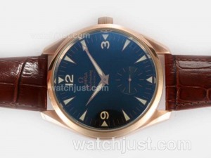 Replica Omega Seamaster Aqua Terra Railmaster Unitas 6498 Movement Rose Gold Case