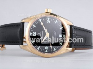 Replica Omega Railmaster Automatic Yellow Gold Case