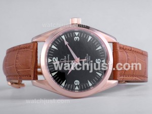 Replica Omega Railmaster Automatic Rose Gold Case
