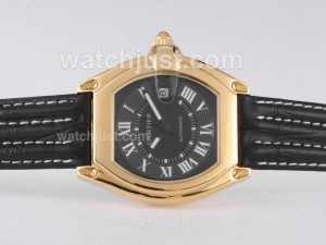 Replica Cartier Roadster Automatic Gold Case