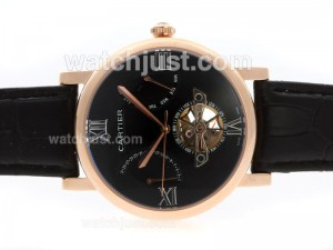 Replica Cartier Ballon Bleu De Cartier Tourbillon Automatic Rose Gold Case