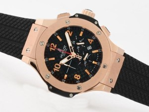 AAA Replica Gorgeous Hublot Big Bang Working Chrono Rose Gold Case With Carbon Fibre Watches
