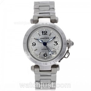 Replica Cartier Pasha Gmt Automatic With White Dial Watch