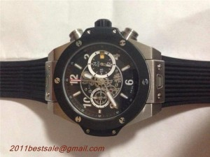 Replica Hublot Big Bang Quartz Movement Whole Black Watch