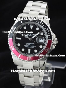Rolex-Submariner-Date-116610-Replica-Watches-Reddish-Purple-Two-Tone-Bezel-280